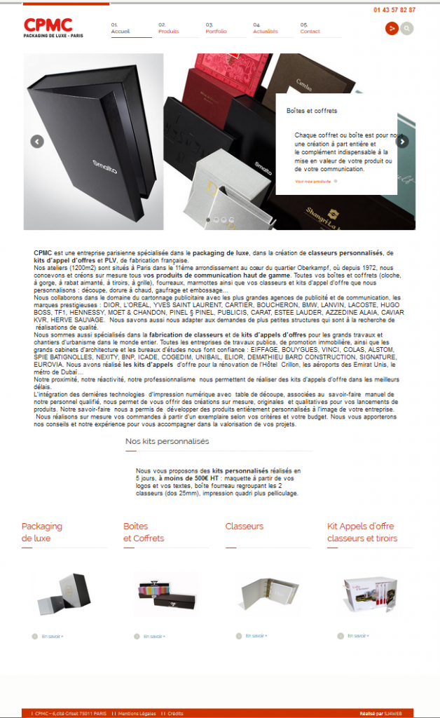 CPMC site internet vitrine