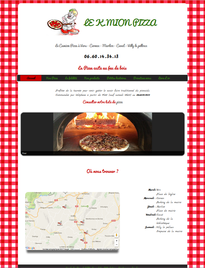 site K-Mion pizza pizza à emporter
