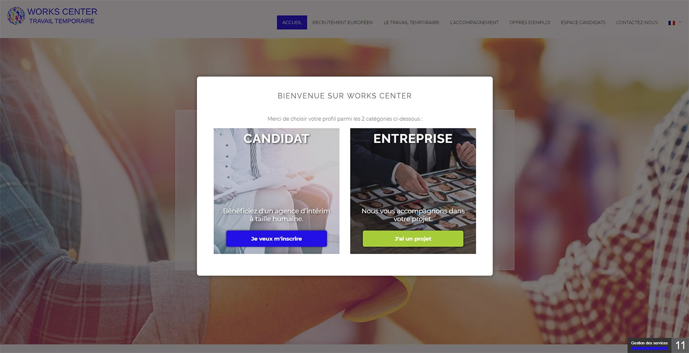 Site Web Works Center Travail Temporaire Meythet