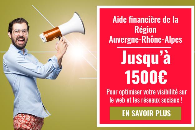 Aide financière de la région Auvergne-Rhône-Alpes